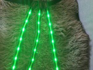 LED hest halesæt grøn