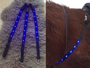 LED lys til hest blå