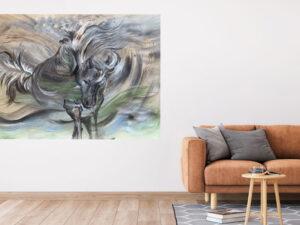 poster af islandsk hest - studie
