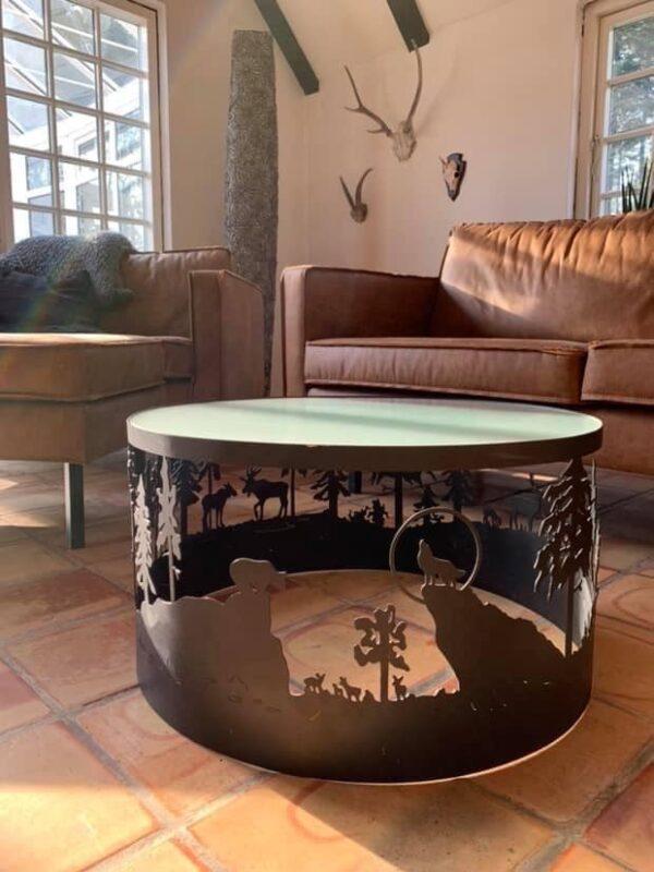 Sofabord med dyremotiv